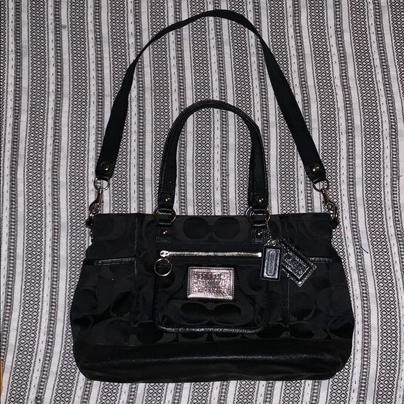 Coach Handbags - Authentic Coach Poppy Black Tote Satchel Purse Bag